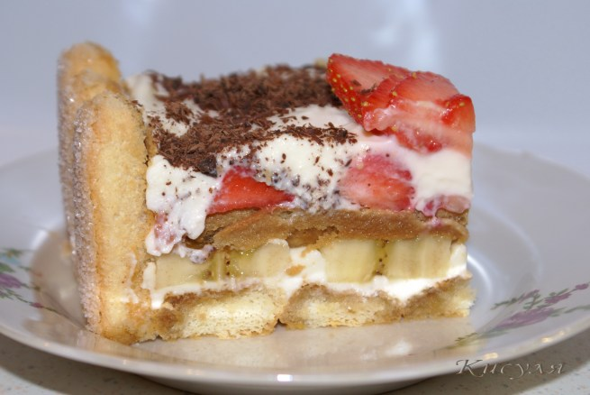 Творожное печенье пирожное с фруктами