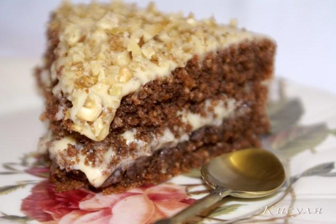 Шоколадно-гречневый торт с карамельно-цитрусовым кремом