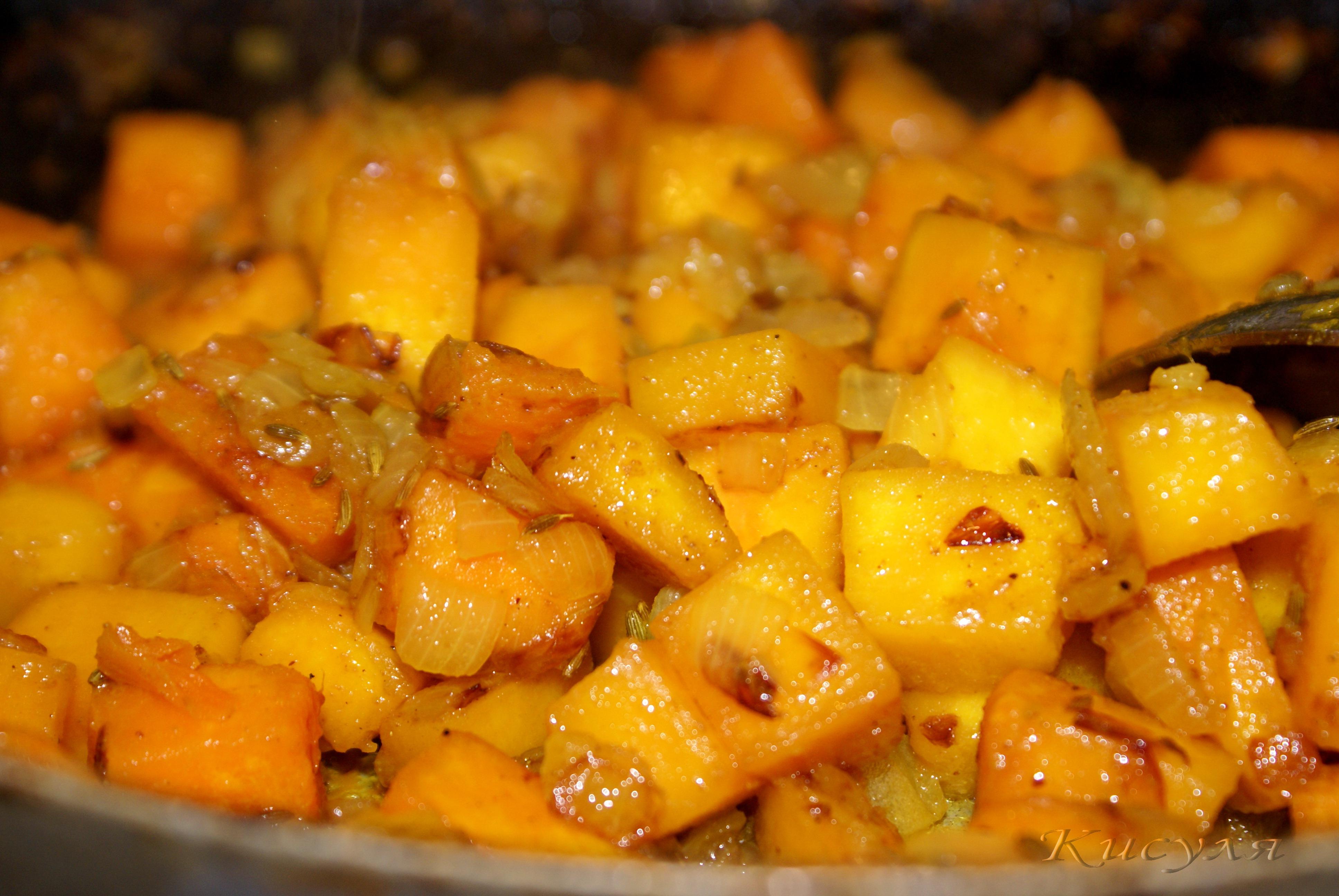 Тушеная тыква с морковью рецепты