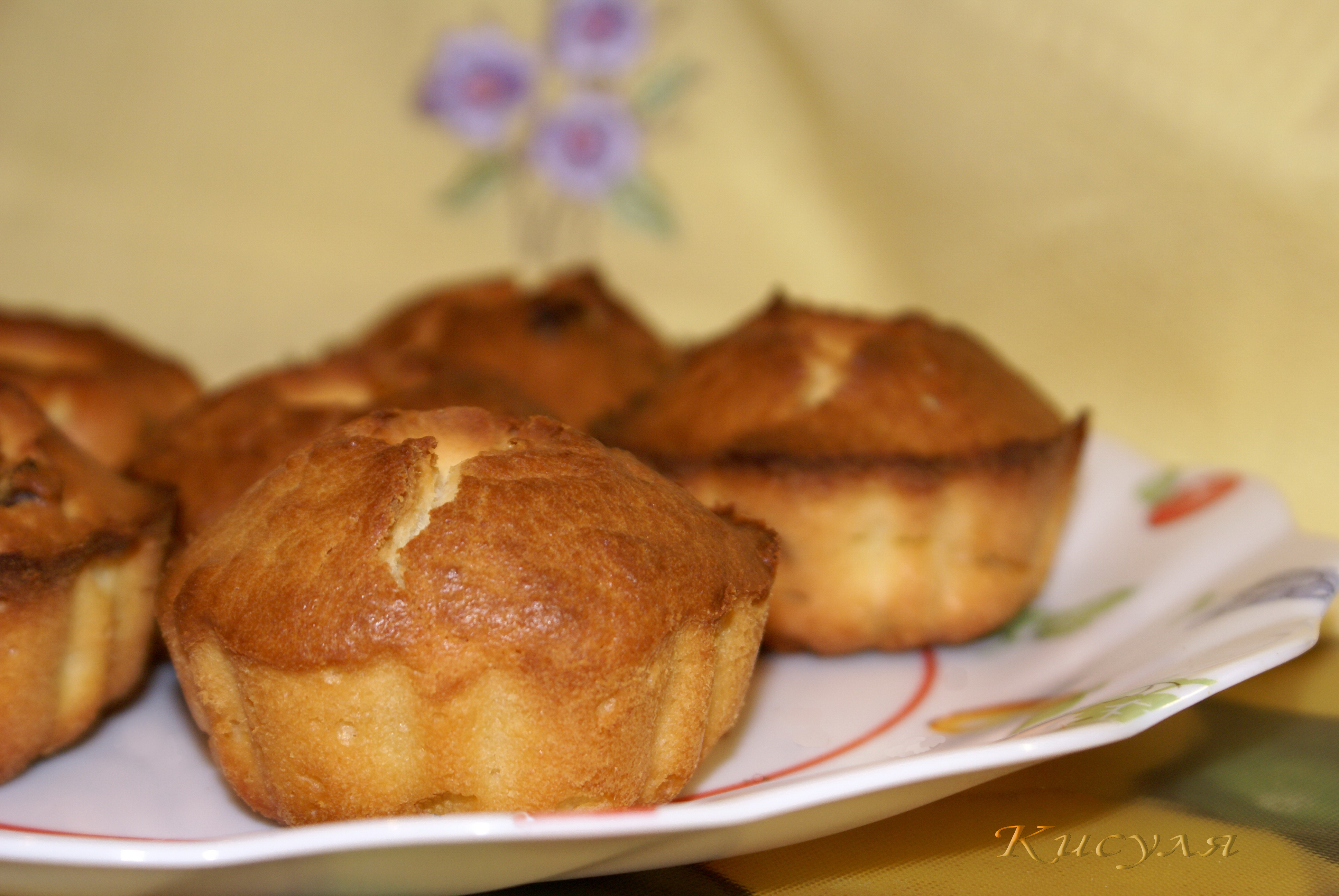 Рецепт кекса с изюмом в формочках духовке