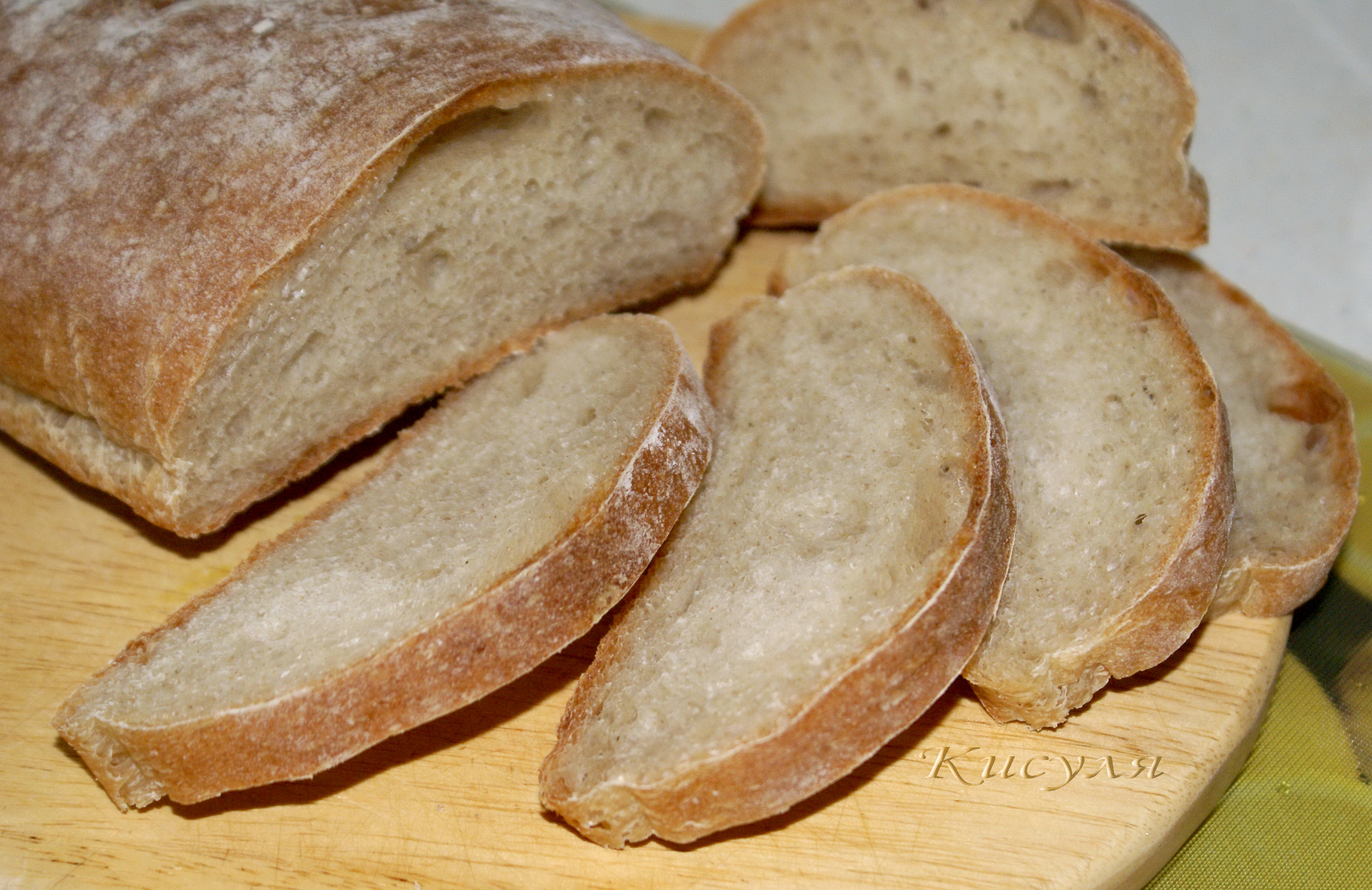 Тесто для хлеба на воде