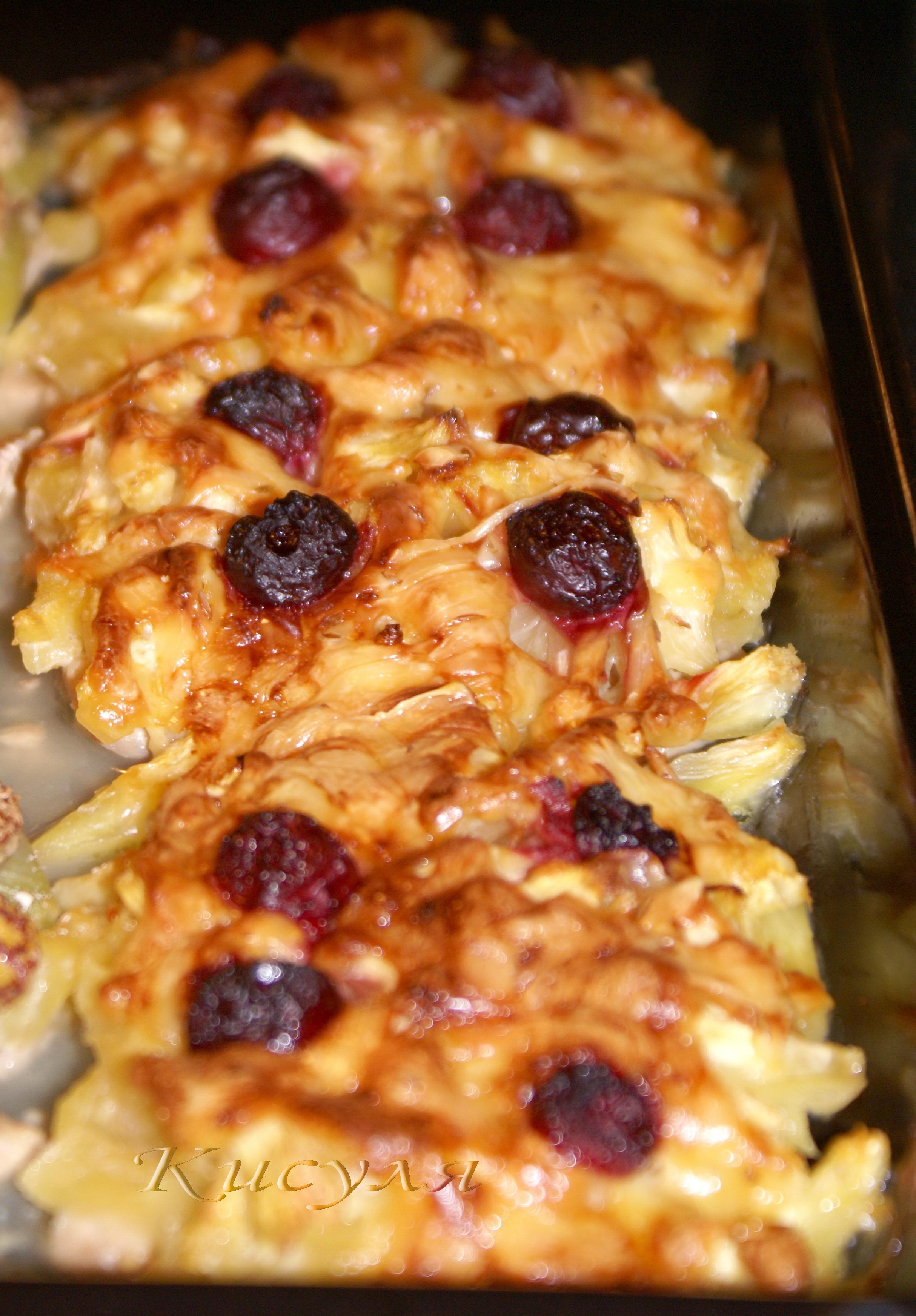 Говядина с ананасами в духовке рецепт