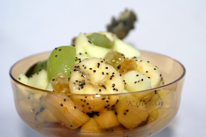 Фруктовый салат с маком - Рецепт