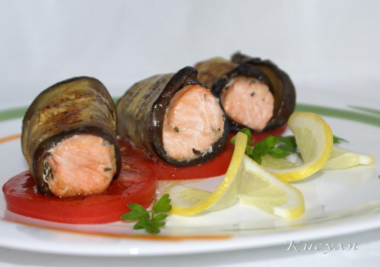 Баклажаны с рыбой рецепты