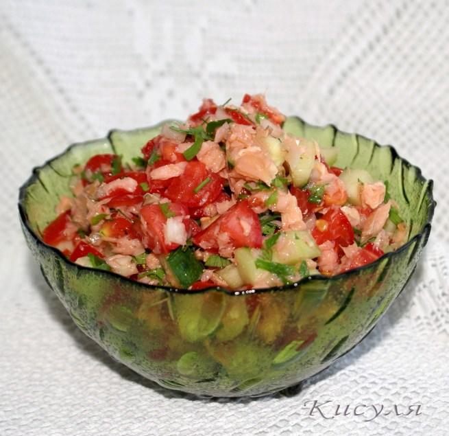 Салаты из красной рыбы горячего копчения рецепты с