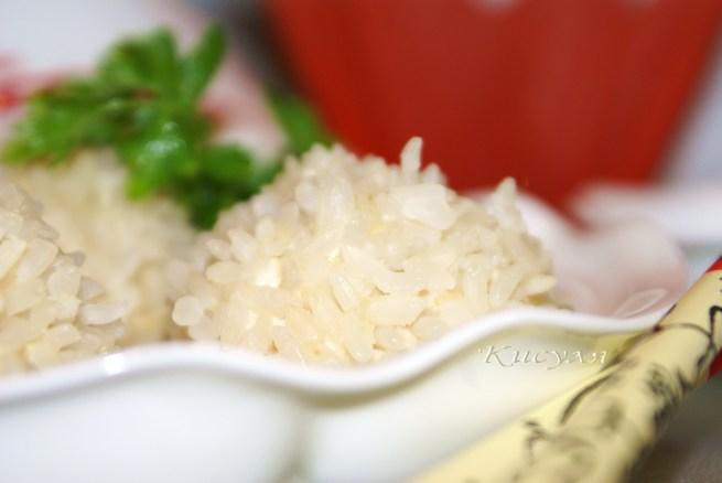 «Жемчужные шарики»(куриные шарики с креветками в рисовой оболочке)