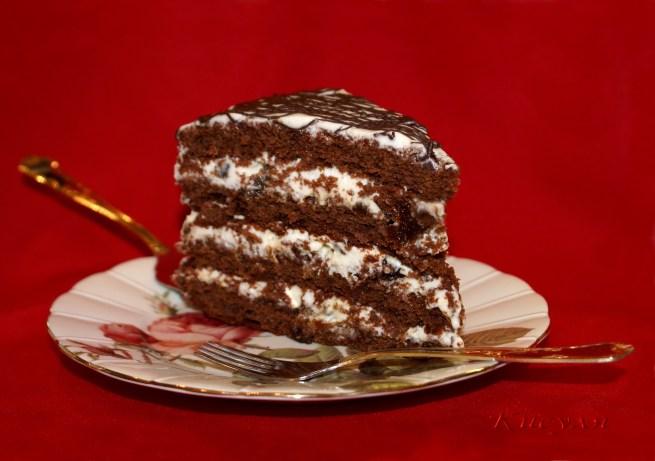 Торт с черносливом фоторецепт