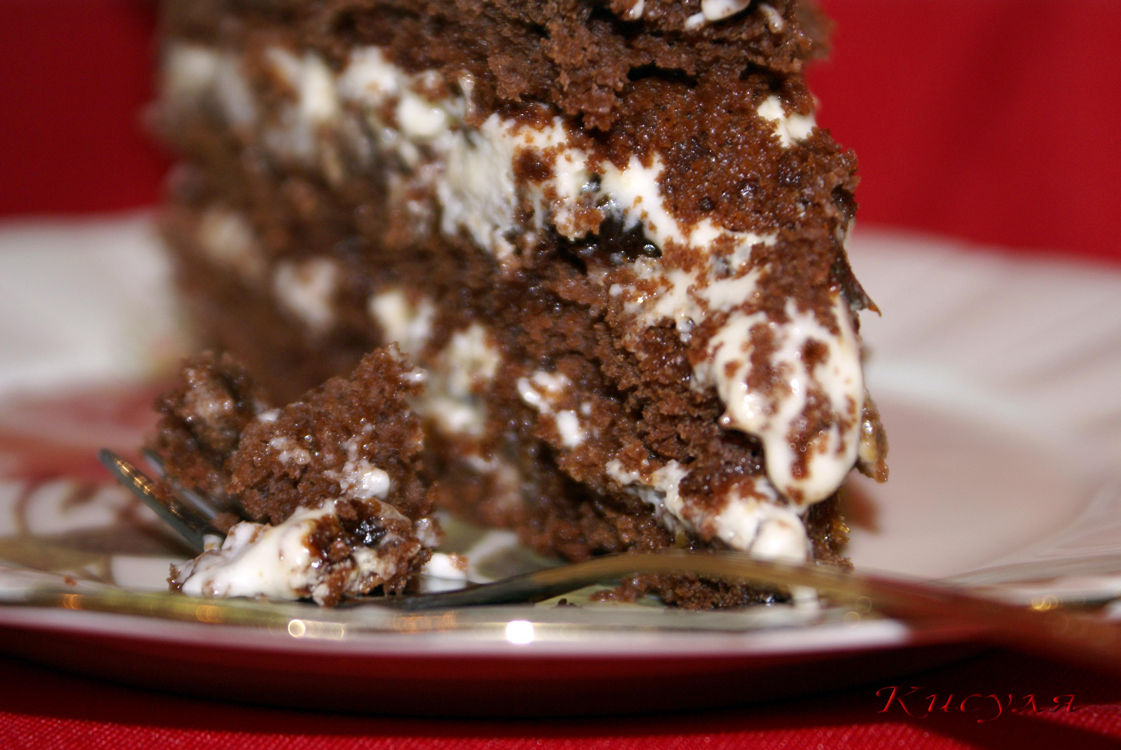 Торт с черносливом и шоколадом рецепт с пошагово
