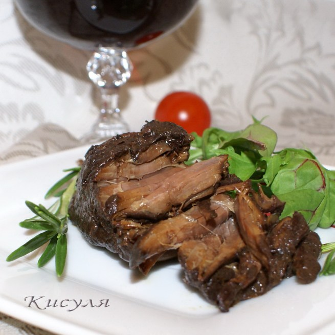 мясо с красным вином рецепт фото