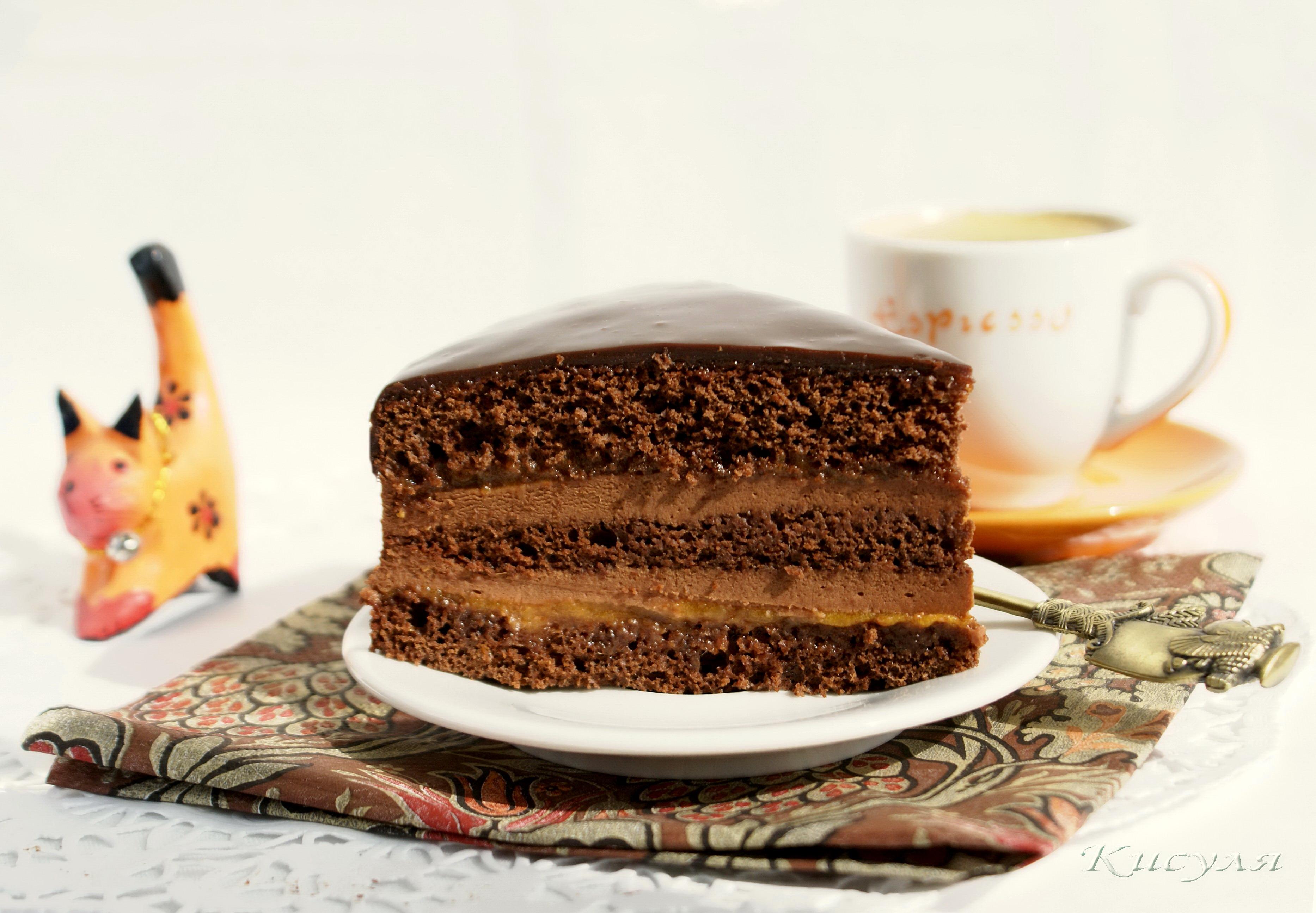 Фото красивые с кофейно-имбирным тортом, открытка лев